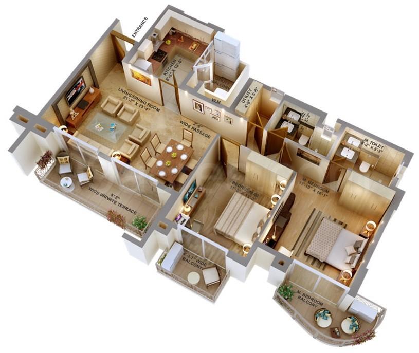Aipl Peaceful Homes 2 3 4 Bhk Sector 70 Gurgaon Provident Capital