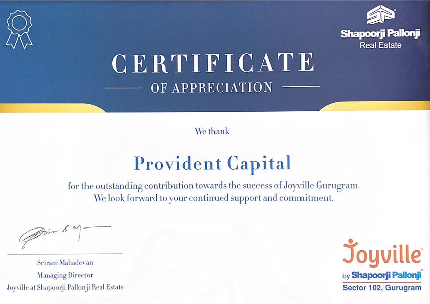shapoorji-joyvilley-provident-capital-awards