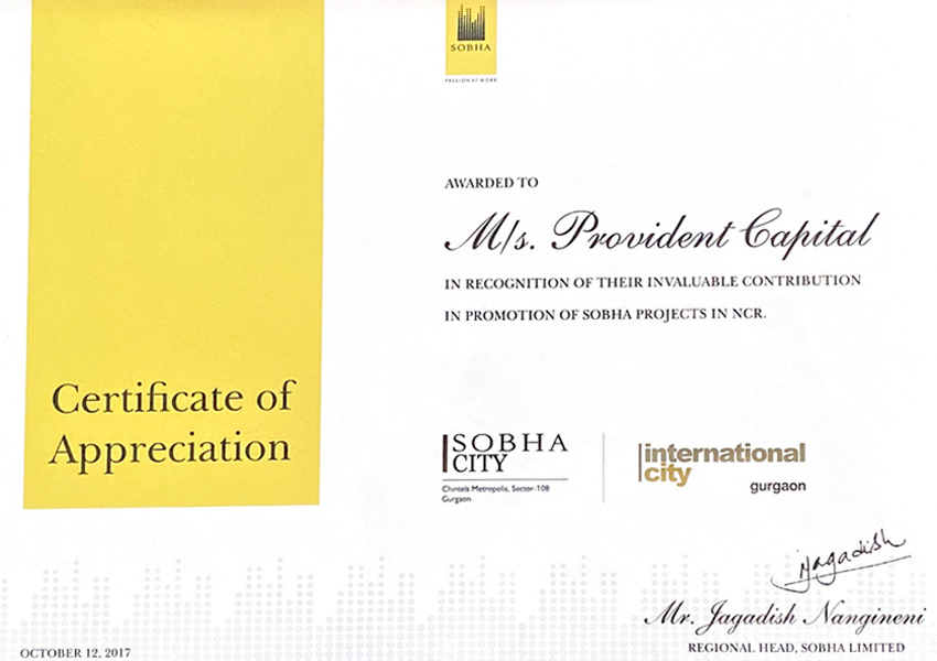 sobha-developers-provident-capital-awards